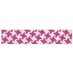 HOUNDSTOOTH2 WHITE MARBLE & PINK DENIM Small Flano Scarf