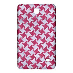 HOUNDSTOOTH2 WHITE MARBLE & PINK DENIM Samsung Galaxy Tab 4 (8 ) Hardshell Case