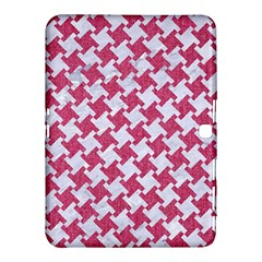 HOUNDSTOOTH2 WHITE MARBLE & PINK DENIM Samsung Galaxy Tab 4 (10.1 ) Hardshell Case