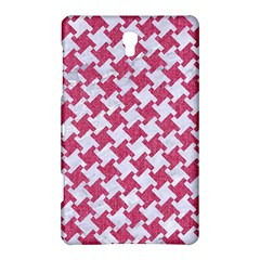 HOUNDSTOOTH2 WHITE MARBLE & PINK DENIM Samsung Galaxy Tab S (8.4 ) Hardshell Case