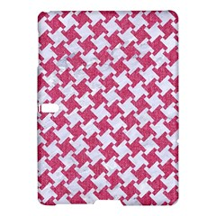 HOUNDSTOOTH2 WHITE MARBLE & PINK DENIM Samsung Galaxy Tab S (10.5 ) Hardshell Case