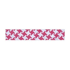 HOUNDSTOOTH2 WHITE MARBLE & PINK DENIM Flano Scarf (Mini)