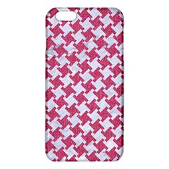 Houndstooth2 White Marble & Pink Denim Iphone 6 Plus/6s Plus Tpu Case by trendistuff