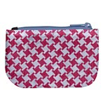HOUNDSTOOTH2 WHITE MARBLE & PINK DENIM Large Coin Purse Back