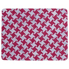 Houndstooth2 White Marble & Pink Denim Jigsaw Puzzle Photo Stand (rectangular) by trendistuff