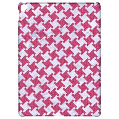 Houndstooth2 White Marble & Pink Denim Apple Ipad Pro 12 9   Hardshell Case by trendistuff