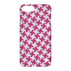 Houndstooth2 White Marble & Pink Denim Apple Iphone 7 Plus Hardshell Case