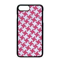 Houndstooth2 White Marble & Pink Denim Apple Iphone 7 Plus Seamless Case (black) by trendistuff