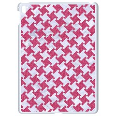 Houndstooth2 White Marble & Pink Denim Apple Ipad Pro 9 7   White Seamless Case