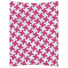 HOUNDSTOOTH2 WHITE MARBLE & PINK DENIM Back Support Cushion