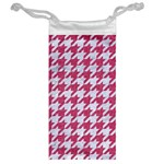 HOUNDSTOOTH1 WHITE MARBLE & PINK DENIM Jewelry Bags Back