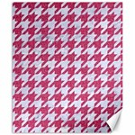 HOUNDSTOOTH1 WHITE MARBLE & PINK DENIM Canvas 8  x 10  10.02 x8 Canvas - 1
