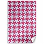 HOUNDSTOOTH1 WHITE MARBLE & PINK DENIM Canvas 24  x 36  36 x24  Canvas - 1