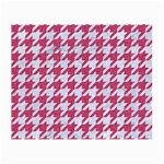 HOUNDSTOOTH1 WHITE MARBLE & PINK DENIM Small Glasses Cloth (2-Side) Front