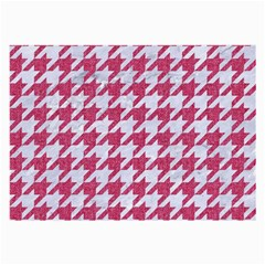 Houndstooth1 White Marble & Pink Denim Large Glasses Cloth by trendistuff