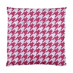 HOUNDSTOOTH1 WHITE MARBLE & PINK DENIM Standard Cushion Case (One Side) Front
