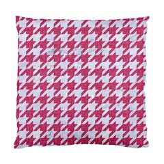 Houndstooth1 White Marble & Pink Denim Standard Cushion Case (two Sides) by trendistuff