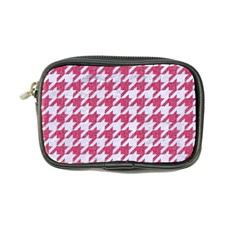 Houndstooth1 White Marble & Pink Denim Coin Purse
