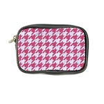 HOUNDSTOOTH1 WHITE MARBLE & PINK DENIM Coin Purse Front