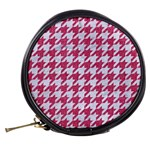 HOUNDSTOOTH1 WHITE MARBLE & PINK DENIM Mini Makeup Bags Back