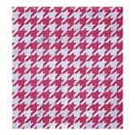 HOUNDSTOOTH1 WHITE MARBLE & PINK DENIM Shower Curtain 66  x 72  (Large)  58.75 x64.8 Curtain