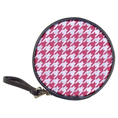 Houndstooth1 White Marble & Pink Denim Classic 20 Cd Wallets