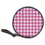 HOUNDSTOOTH1 WHITE MARBLE & PINK DENIM Classic 20-CD Wallets Front