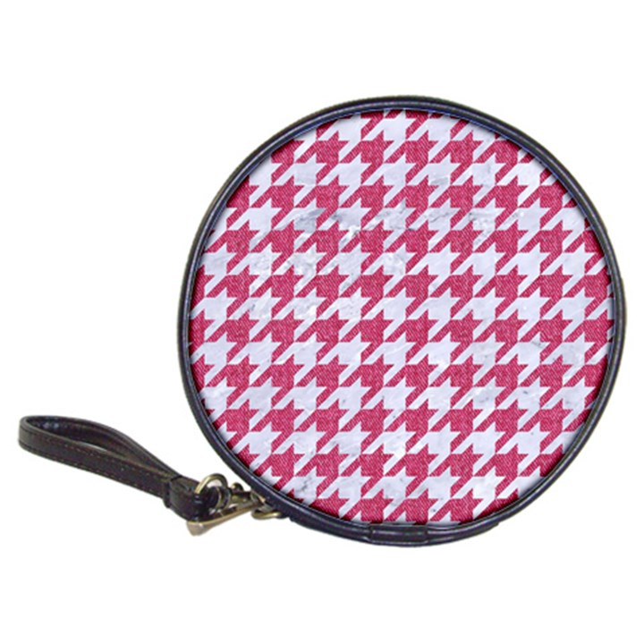 HOUNDSTOOTH1 WHITE MARBLE & PINK DENIM Classic 20-CD Wallets