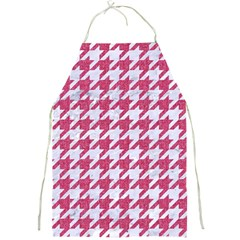 Houndstooth1 White Marble & Pink Denim Full Print Aprons