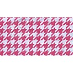 HOUNDSTOOTH1 WHITE MARBLE & PINK DENIM Magic Photo Cubes Long Side 1