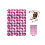 HOUNDSTOOTH1 WHITE MARBLE & PINK DENIM Playing Cards (Mini)  Back
