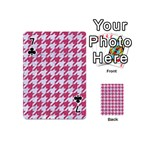 HOUNDSTOOTH1 WHITE MARBLE & PINK DENIM Playing Cards 54 (Mini)  Front - Club7