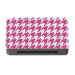 Houndstooth1 White Marble & Pink Denim Memory Card Reader With Cf by trendistuff