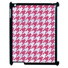 Houndstooth1 White Marble & Pink Denim Apple Ipad 2 Case (black)