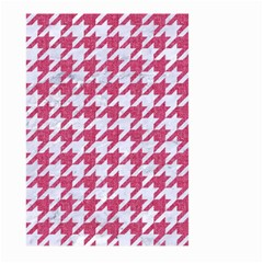 Houndstooth1 White Marble & Pink Denim Large Garden Flag (two Sides) by trendistuff