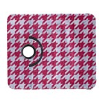 HOUNDSTOOTH1 WHITE MARBLE & PINK DENIM Galaxy S3 (Flip/Folio) Front
