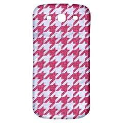 Houndstooth1 White Marble & Pink Denim Samsung Galaxy S3 S Iii Classic Hardshell Back Case by trendistuff