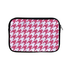 Houndstooth1 White Marble & Pink Denim Apple Ipad Mini Zipper Cases