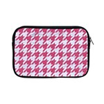 HOUNDSTOOTH1 WHITE MARBLE & PINK DENIM Apple iPad Mini Zipper Cases Front