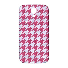 Houndstooth1 White Marble & Pink Denim Samsung Galaxy S4 I9500/i9505  Hardshell Back Case by trendistuff