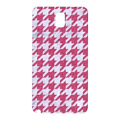 Houndstooth1 White Marble & Pink Denim Samsung Galaxy Note 3 N9005 Hardshell Back Case by trendistuff