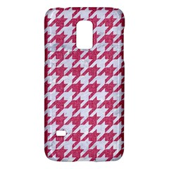 Houndstooth1 White Marble & Pink Denim Galaxy S5 Mini