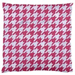 HOUNDSTOOTH1 WHITE MARBLE & PINK DENIM Standard Flano Cushion Case (One Side) Front