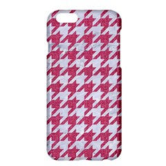 Houndstooth1 White Marble & Pink Denim Apple Iphone 6 Plus/6s Plus Hardshell Case by trendistuff