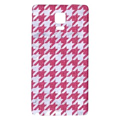 Houndstooth1 White Marble & Pink Denim Galaxy Note 4 Back Case by trendistuff