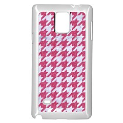 Houndstooth1 White Marble & Pink Denim Samsung Galaxy Note 4 Case (white) by trendistuff