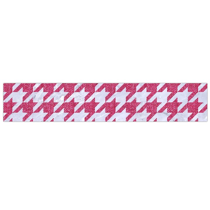 HOUNDSTOOTH1 WHITE MARBLE & PINK DENIM Large Flano Scarf