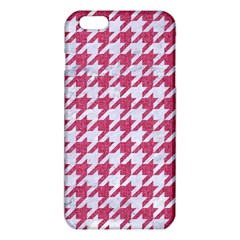 Houndstooth1 White Marble & Pink Denim Iphone 6 Plus/6s Plus Tpu Case by trendistuff