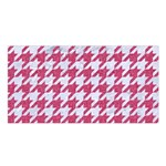 HOUNDSTOOTH1 WHITE MARBLE & PINK DENIM Satin Shawl Front