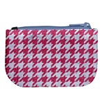 HOUNDSTOOTH1 WHITE MARBLE & PINK DENIM Large Coin Purse Back